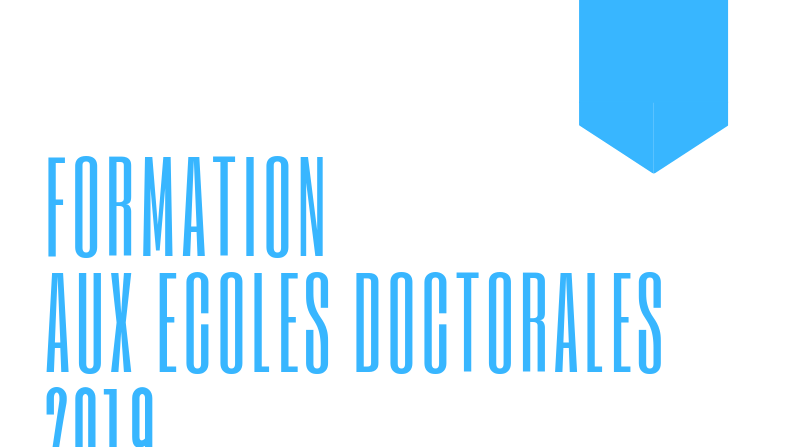 Formations Écoles Doctorales 2019